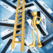 Ladder Out Of Credit Debt — 图库照片