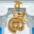 Golden Grad Online Education — Stock Photo