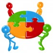 Teamwork Puzzle — Stockfoto #12277892