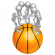 Basketball Team — Foto Stock