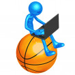 Online Basketball — Stock Photo