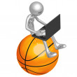 Online Basketball - Stock Photo