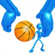 Basketball Pass — Stockfoto