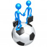 Soccer Football Business — Stock Photo