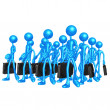 Businessmen Marching — Stock Photo