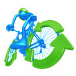 Recycle Bicycle — Stock Photo