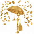 Raining Gold Coins — Stock Photo