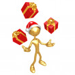 Stock Photo: Juggling Presents
