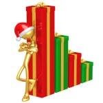 Christmas Profits Bar Graph — Stock Photo