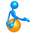 Yoga Pilates Physio Ball - Stock Photo