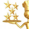 5 Star Restaurant Rating — ストック写真 #12279340