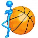Attitude Lean Basketball — Stock Photo #12279929
