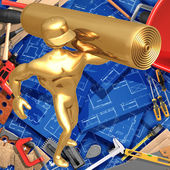 3D Home Improvement Construction Concept Carpeting — Stock Photo