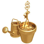 Cultivate Wealth Dollar — Stock Photo