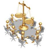Rättsliga möte — Stockfoto