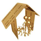 Casa de crédito — Foto de Stock