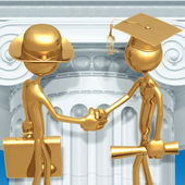 Golden Grad Employment Graduation Concept — Stock Photo