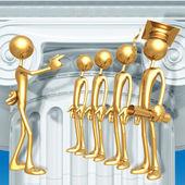 Golden Grad Selected Graduation Concept — Stock Photo