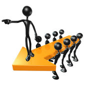 Ledarskap pilar — Stockfoto