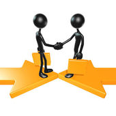 Meeting Merger Arrows — Stock Photo