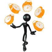 Concepto de tiempo de malabarismo — Foto de Stock