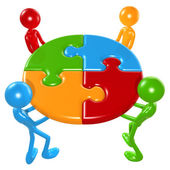 Teamwork Puzzle — Stock Photo