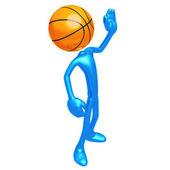Basketball Waving Hi — Stock Photo