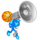 Basketball Megaphone — Stock Photo