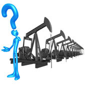 Question Oil Pumps — Stock Photo