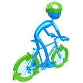 Bisiklet geri dönüşüm — Stok fotoğraf