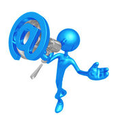 Megaphone Email — Stock Photo
