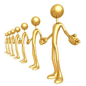 Golden Unity — Stock Photo