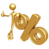 Percentage Presenter — Stock Photo