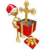 Christmas Gift Cross — Stock Photo