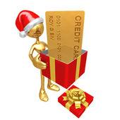 Noel hediye kredi kartı — Stok fotoğraf