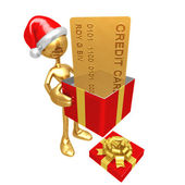 Christmas Gift Credit Card — Stock Photo