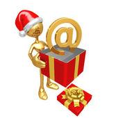е-коммерция рождественский подарок — Стоковое фото