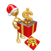 Christmas Gift Dollar — Stock Photo