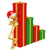 Christmas Profits Bar Graph — Stock Photo