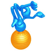Yoga Ball — Stock Photo
