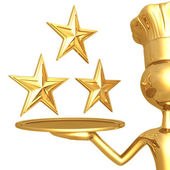 3 звезды ресторан рейтинг — Стоковое фото