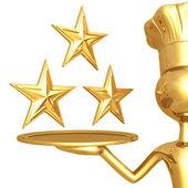 3 Star Restaurant Rating — Stock Photo