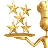 5 звезды ресторан рейтинг — Стоковое фото