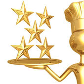 5 sterren restaurant rating — Stockfoto