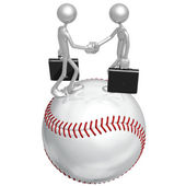 Baseball Business Deal — Stock Photo
