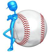 Postawa baseball — Zdjęcie stockowe