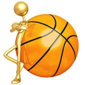 Haltung schlanke basketball — Stockfoto