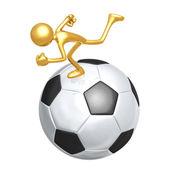 Soccer Football Runner — Stock Photo