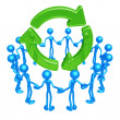 Stock Photo: Recycle Unity Circle
