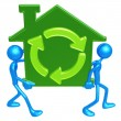 Green Home Movers — Stock Photo